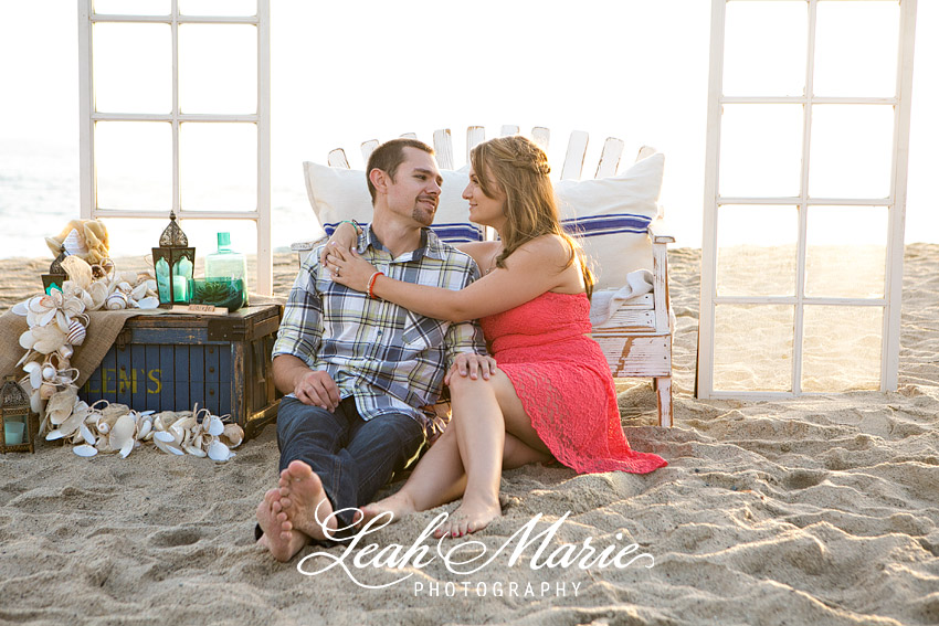 Styled Beach Engagement Shoot Leah Marie Photography