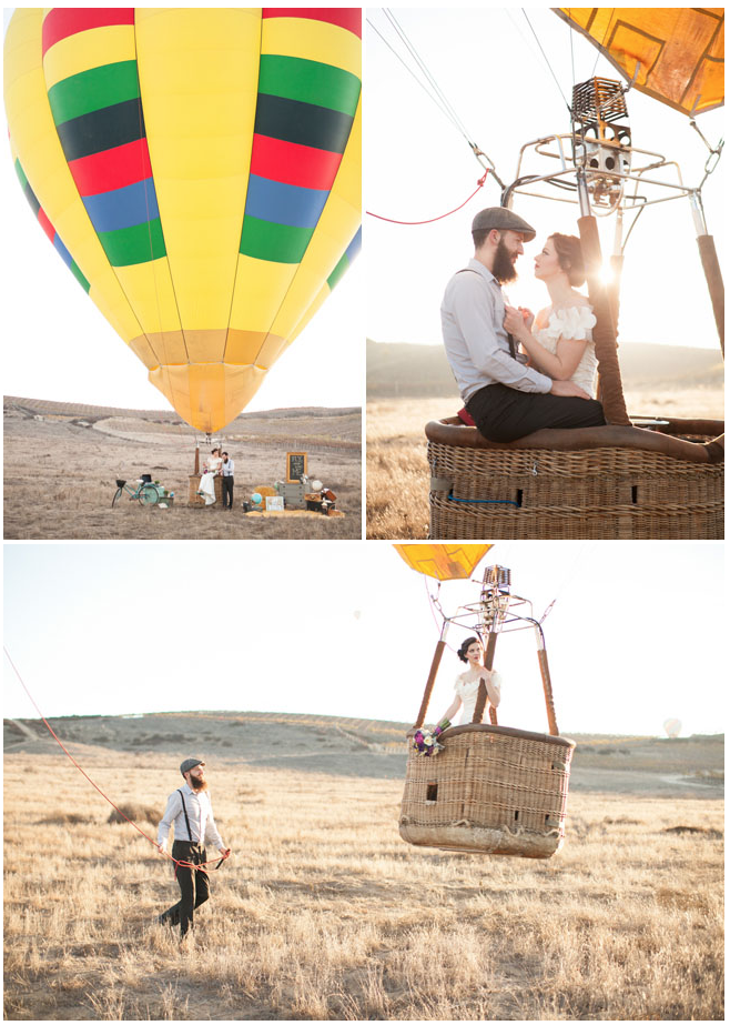Green Wedding Shoes Hot Air Balloon