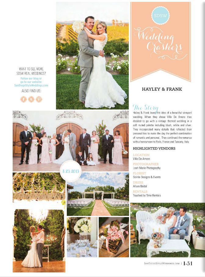 Magazine Spread Leah Marie Photography Temecula Wedding Photographer