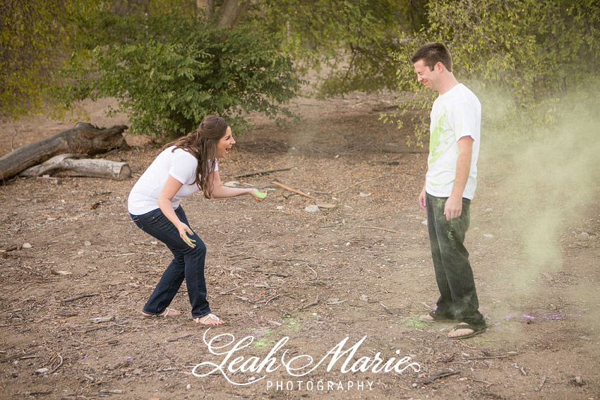 Chalk Fight Engagement Session temecula california