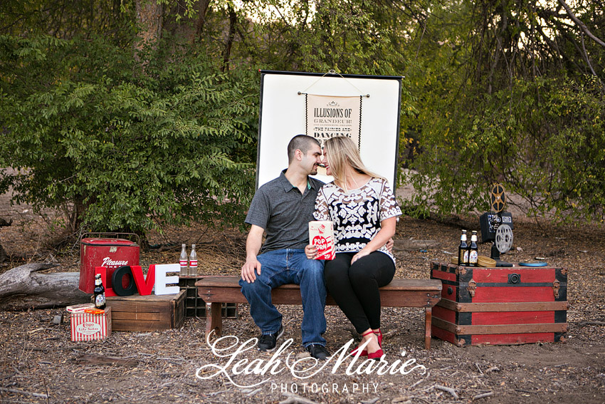 Outdoor Movie Themed Engagement Session Temecula