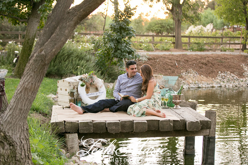 row boat engagement session temecula photographer