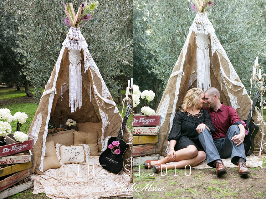 teepee engagement session