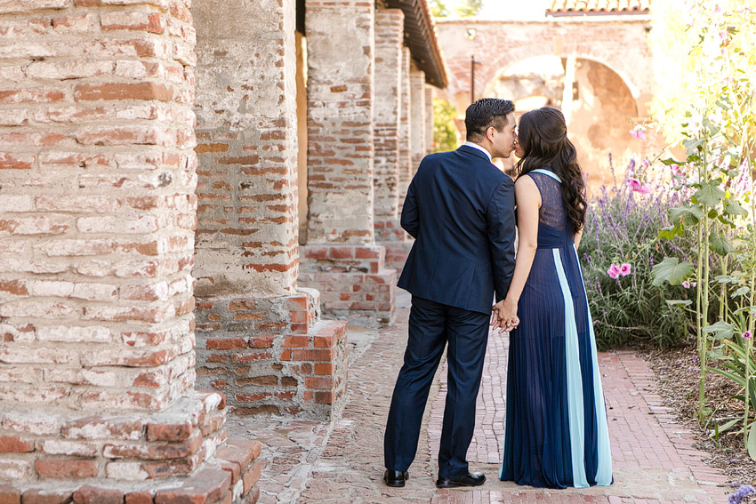 Leah Marie Photography l San Juan Capistrano Mission l Engagement Session Photographer