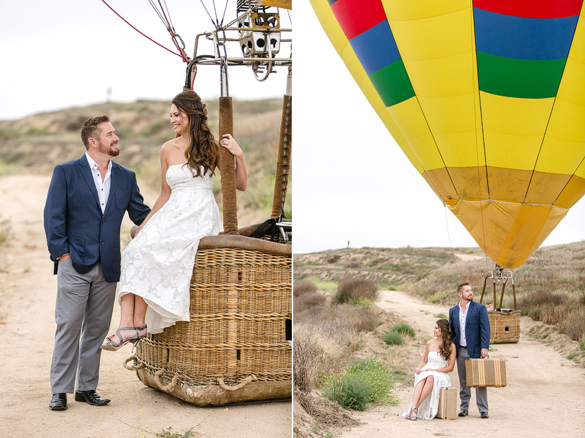 Hot air balloon temecula engagement session photographer