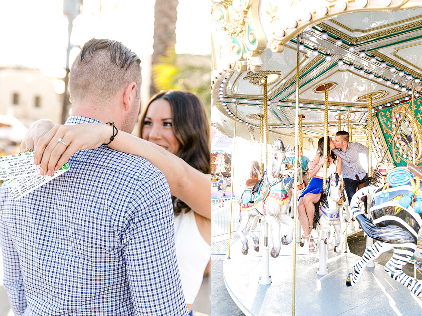 Carnival Fair Engagement session Del Mar Photographer
